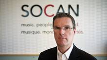 CEO of SOCAN, Eric Baptiste, said he was disappointed in Thursday's Supreme Court of Canada ruling, which did away with some copyright fees on downloads, July 12, 2012. (Galit Rodan/The Globe and Mail)