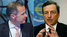 Mark Carney, left and Mario Draghi