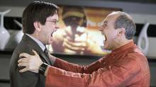 Mark McKinney and Colm Feore in a scene from a Season 2 episode of Slings and Arrows