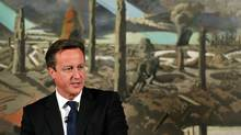 Britain's Prime Minister David Cameron speaks at an event in London October 11, 2012. (Reuters)