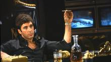 "Al Pacino portrays Tony Montana, a Cuban immigrant turned kingpin, in a scene from ""Scarface."" In pop culture, gangsters have the upper hand, though they died for their transgressions (Associated Press)"