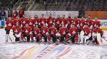 Team Canada players line up for a team photo before a training session ahead of the World Cup of Hockey in Toronto on Friday, September 16, 2016. (Chris Young/THE CANADIAN PRESS)
