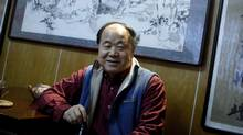 "Chinese writer Mo Yan smiles during an interview at his house in Beijing December 24, 2009. Mo Yan won the 2012 Nobel prize for literature on October 11, 2012 for works which the awarding committee said had qualities of ""hallucinatory realism"" (Reuters)"