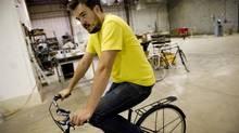 Zak Pashak's bicycle manufacturing space in Detroit, Mich. (Daniel Lippitt)