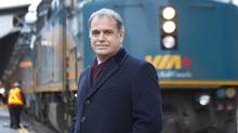 Via Rail CEO Yves Desjardins-Siciliano has been pitching a bid for a Via-only Quebec City-Windsor route to private investors. (Kevin Van Paassen for The Globe and Mail)