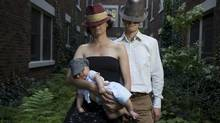 Stuart and Sheila with their first child three years ago in Toronto. Since the Financial Facelift, they've added another child to their family and have moved to the countryside. (Matthew Sherwood/The Globe and Mail)