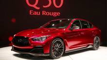 The Infiniti Q 50 Eau Rouge sedan is unveiled at the North American International Auto Show in Detroit, Michigan January 14, 2014. (REBECCA COOK/REUTERS)
