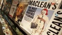 A controversial edition of Maclean's magazine is seen at a news stand in North Vancouver on Sept. 24, 2010. (Jonathan Hayward/THE CANADIAN PRESS)
