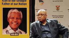 South Africa's President Jacob Zuma attends a media briefing on arrangements relating to the passing of former President Nelson Mandela, at SABC Studios in Auckland Park, Johannesburg, December 6, 2013. (STRINGER/REUTERS)