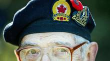 A Second World War veteran attends Remembrance Day ceremonies in Montreal on Nov. 11, 2010. (Graham Hughes/THE CANADIAN PRESS)