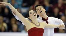 Tessa Virtue and Scott Moir skate to a gold medal during the Dance free program at the Canadian Figure Skating Championships in Moncton, New Brunswick, January 21, 2012. (MIKE CASSESE)