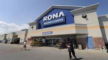 A RONA outlet. The Quebec-based chain is the target of a takeover bid by U.S. based Lowe's. (Fred Lum/Fred Lum/The Globe and Mail)