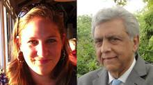 Annemarie Desloges, left, was a 29-year-old Canadian diplomat slain in the Kenyan terrorist attack. Naguib Damji, a Vancouver businessman, was also killed in the massacre. (FACEBOOK)