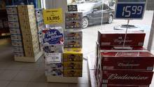 Beer is on display inside a store in Drummondville, Que., on July 23, 2015. (Ryan Remiorz/THE CANADIAN PRESS)