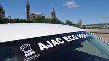 AJAC Eco-Run banner (Michael Bettencourt for The Globe and Mail)