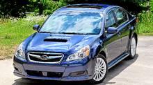 Subaru tops ALG's 2011 prediction list for future residual values. The 2011 Subaru Legacy, above, should retain 44.3 per cent of its value. (Subaru)