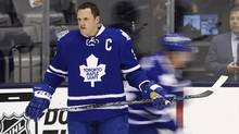 Dion Phaneuf, former captain of the Toronto Maple Leafs who only last Saturday was roundly booed every time he touched the puck during a game against the Senators, is now himself an Ottawa Senator. (Mark Blinch for The Globe and Mail)