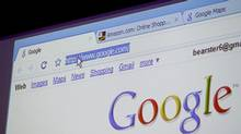 Google Chrome, Google Inc.'s Web browser, is shown during a news conference at the company's headquarters in Mountain View, Calif., Tuesday, Sept. 2, 2008. (Paul Sakuma/AP)