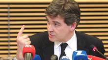 French Minister for Industrial Renewal Arnaud Montebourg opposed the Yahoo deal for Dailymotion, although he has no legal mechanism to halt it. (YVES LOGGHE/AP)