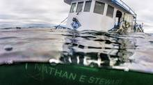 The sinking of a tug and the subsequent diesel spill on British Columbia's central coast is prompting a rethink to emergency response that could allow those closest to the disaster to take the lead, says the federal indigenous affairs minister. The tug boat Nathan E. Stewart is seen in the waters of the Seaforth Channel near Bella Bella, B.C., in an October 23, 2016, handout photo. (April Bencze/THE CANADIAN PRESS)