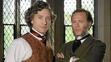 """Shawn Doyle (left) as John A. Macdonald and Peter Outerbridge as George Brown in """"John A: The Birth of a Country"""""""