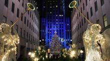 The famous Christmas tree in New York's Rockefeller Center.