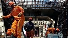 Workers construct a section of Gautrain railway in Johannesburg (� Antony Kaminju / Reuters/� Antony Kaminju / Reuters/REUT)