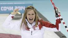 Canada's skip Jennifer Jones celebrates after winning gold at the Sochi 2014 Winter Olympics (Ints Kalnins/Reuters)
