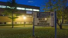 The Toronto District School Board is considering closing St. Andrew's Junior High School in Toronto, ON. (Philip Cheung For The Globe and Mail)