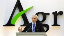 Michael Wilson, president and chief executive officer of Agrium, addresses shareholders in this file photo. (Todd Korol/REUTERS)