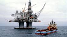 An oil rig in the Grand Banks off Newfoundland. Exxon Mobile on Jan. 4 announced a $14-billion investment in the Hebron oil fields located off the banks. (Petro-Canad)