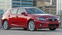 2011 Lexus CT200h. (Bill Petro/Toyota)