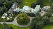 An aerial view of Conrad Black's estate at 26 Park Lane Circle in Toronto. (J.P. Moczulski/The Globe and Mail)