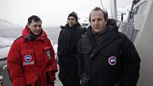 Dani Reiss, right, CEO of Canada Goose