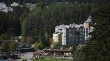 Hotels and lodges in Whistler, B.C., Sept. 13, 2013. In Whistler, property prices remain weak after plunging during the financial crisis. As attractions branch out beyond skiing, officials are hoping for a revival. (Rafal Gerszak for The Globe and Mail)