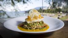 Halibut dinner at Cactus Club Cafe on Sunset Beach in Vancouver July 26, 2012. (John Lehmann/The Globe and Mail)