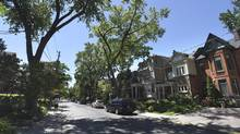 Homes on Brunswick Ave. in Toronto's Annex neighbourhood, photographed on June 19 2014. (FRED LUM/THE GLOBE AND MAIL)