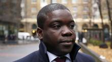 Former UBS trader Kweko Adoboli arrives at Southwark Crown Court in London, Nov. 20, 2012. (STEFAN WERMUTH/REUTERS)