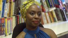 Writer Chimamanda Adichie speaks about her works in Lagos in October 9, 2013. (PIUS UTOMI EKPEI/AFP/Getty Images)