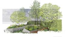 Royal Bank of Canada called upon British landscaper Hugo Bugg to design its show garden, being unveiled this month at the Chelsea Garden Show in London, as a model for stormwater stewardship.