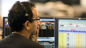 TSX trader watches the action