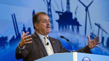 Dow Chemical CEO Andrew Liveris speaks during the CERAWEEK world petrochemical conference in Houston March 8, 2012. (RICHARD CARSON/REUTERS)