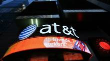 An AT&T retail store is shown in New York's Times Square. (MARK LENNIHAN/MARK LENNIHAN/AP)