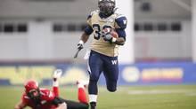 Winnipeg Blue Bombers' Will Ford returns a kick (Jeff McIntosh/The Canadian Press)