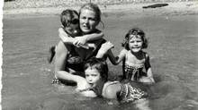 Ingrid Bergman, seen here with her children, often had to balance her own compulsion to get behind the camera.