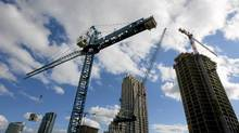 Condominium construction continues between Fort York Boulevard. and Fleet Street in Toronto. (Peter Power / The Globe and Mail/Peter Power / The Globe and Mail)