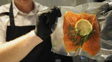 Sous vide salmon: The sous vide technique has been the secret of great chefs worldwide for decades and is finally available in an affordable home appliance. (Fred Lum/Fred Lum/The Globe and Mail)