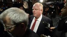 Toronto Mayor Rob Ford has been accused in a lawsuit of orchestrating a jailhouse attack on Scott MacIntyre, his sister's former common-law partner, in 2012. (AARON HARRIS/REUTERS)