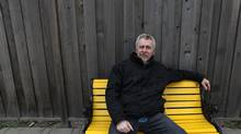 Playwright George F. Walker sits on a bench outside the Factory Theatre in Toronto. (Deborah Baic/The Globe and Mail) (Deborah BaicThe Globe and Mail)