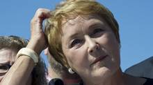 PQ leader Pauline Marois ponders a question during a news conference Sept. 3, 2012, in Cap-Rouge, Que. (Paul Chiasson/THE CANADIAN PRESS)